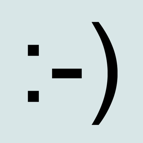 The first emoticon :-)