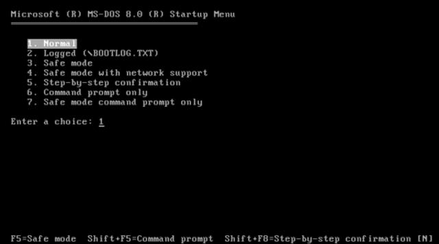 MS-DOS.