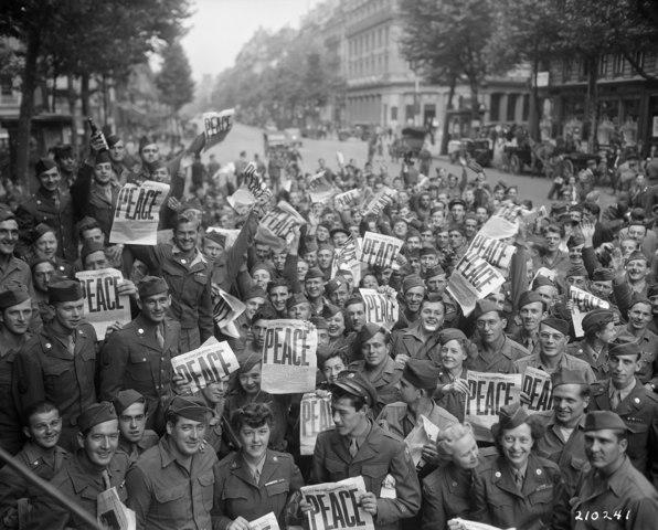 Joy Over Surrender of Japan
