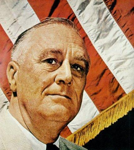 FDR dies, Truman becomes president.