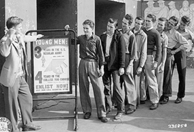 Enlistment of Young Men in the Army in Pittsburgh