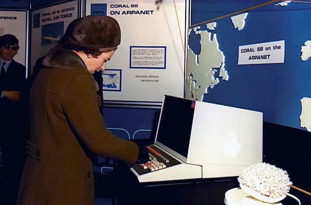 1976: Queen Elizabeth sends her first email!
