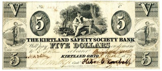 Kirtland Safety Society Bank