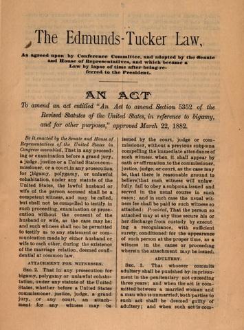 Edmunds-Tucker Act