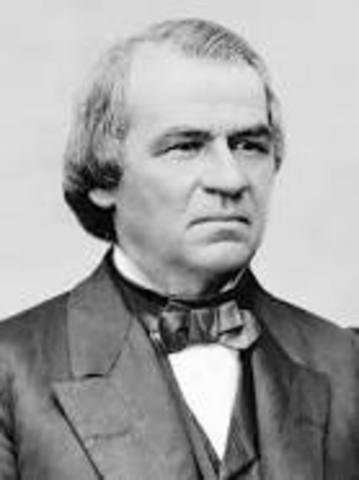 Andrew Johnson Named President of U.S.