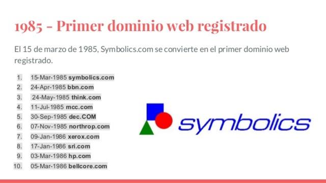 Se registra el primer dominio