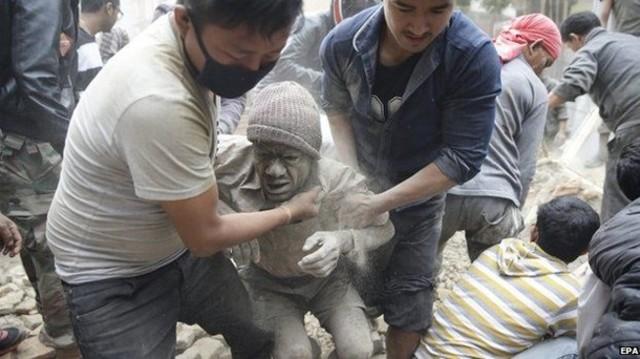 Nepal Earthquake (between Kathmandu and the city of Pokhara)