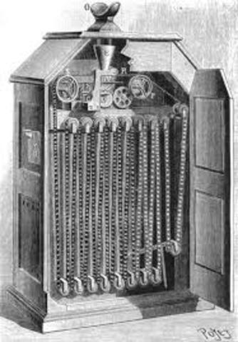 Tomas A. Edison, comercializa el Kinetoscopio