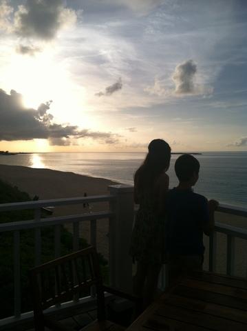 Mi familia y yo fuimos al Bahamas para el viaje.