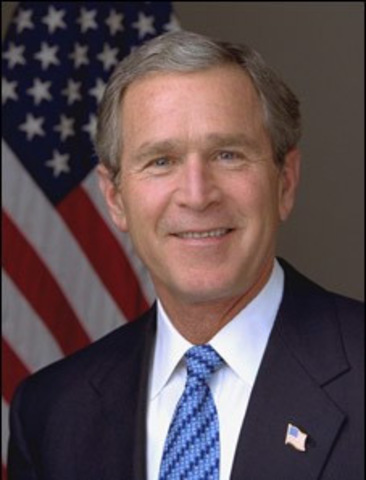 George W. Bush becoming the 43rd President of the United States