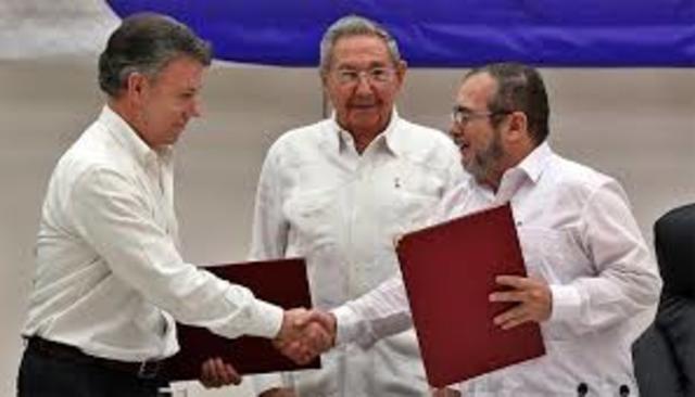 FIRMA DE ACUERDOS PARA LA PAZ CON LAS FARC