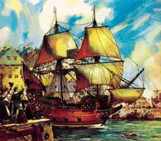 exploración del barco Mayflower en norteamérica