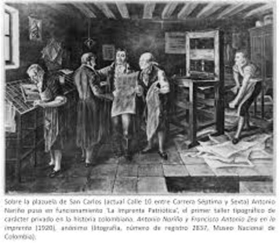 primera imprenta de santafé de bogotá