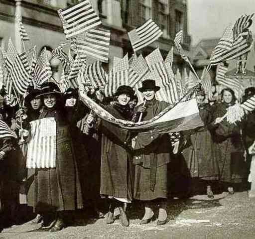The 19th Amendment is passed; granting women in the USA the right to vote