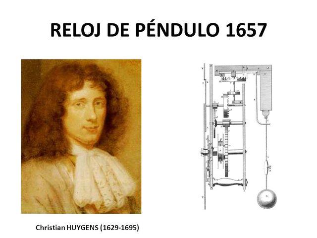 Christian Huygens y en Reloj de Péndulo