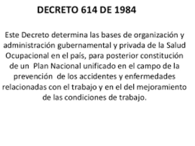 Decreto 614 1984
