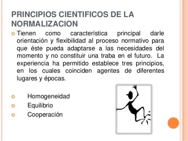Principios básicos de la normalización