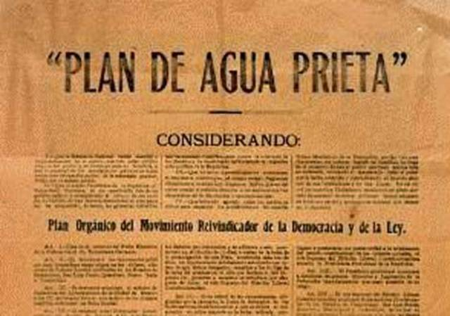 El Plan de Agua Prieta