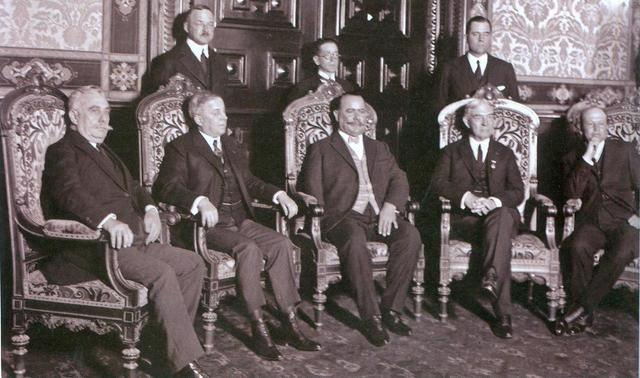 Firma del tratado de Bucareli.