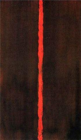 Barnett Newman begins to make colour field paintings