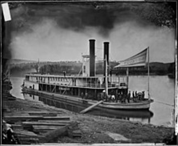 The steamboat was invented