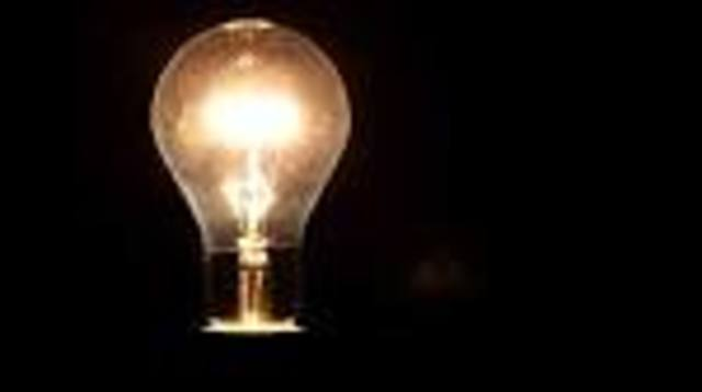 Electric light bulb invented
