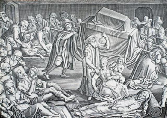 La peste negre s'esten per tota Europa