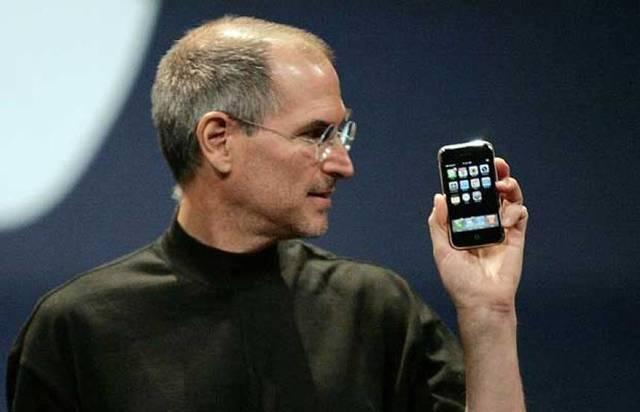 Presentación del primer iPhone.