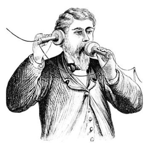 Fisrt experimental acoustic telephone
