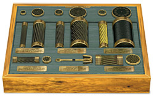 First trans-Atlantic telegraph cable