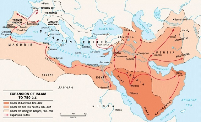 Early Islamic military campaigns into Byzantine territory