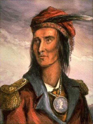 Tecumseh left Prophetstown