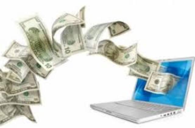 Первый перевод денег по интернету