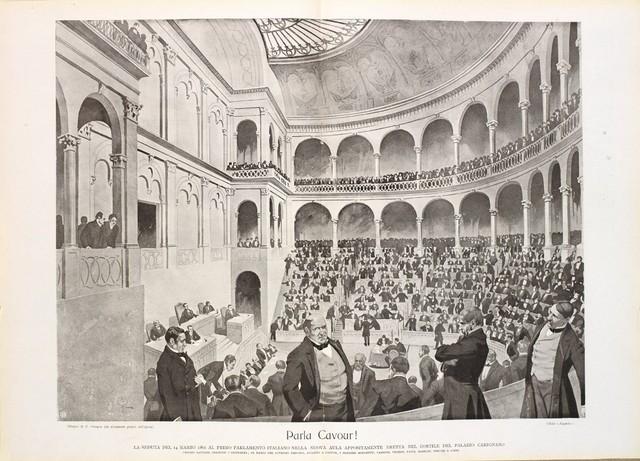 Prima seduta del Parlamento Italiano