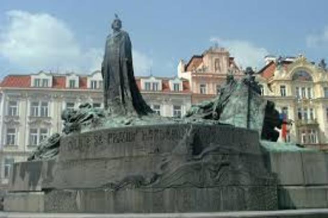 Jan Hus was burned at the stake for being a heretic.