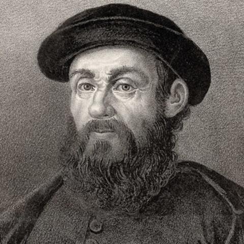 Ferdinand Magellan started his circumnavigation of the globe.
