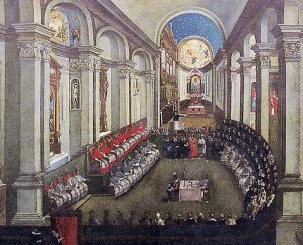 Followers of the Catholic faith met at the Council of Trent