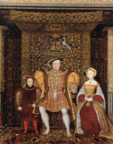 King Henry VIII became the head of the Anglican Church