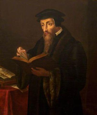 John Calvin developed the idea of predestination