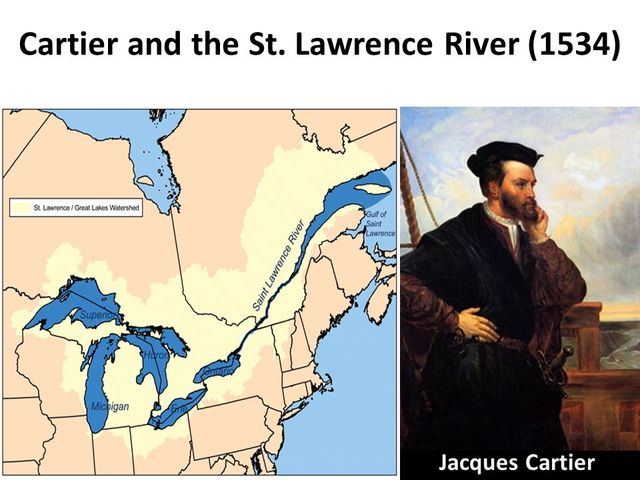 Jacques Cartier explored the St. Lawrence River to Montreal for France