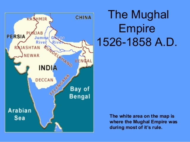 The Mughal empire began in India