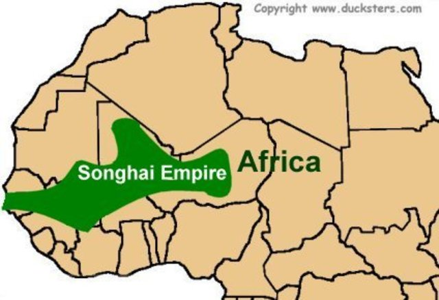 The Songhai Empire was established in Africa