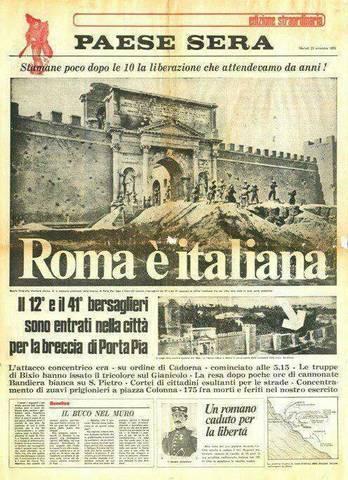 Roma annessa al Regno d'Italia
