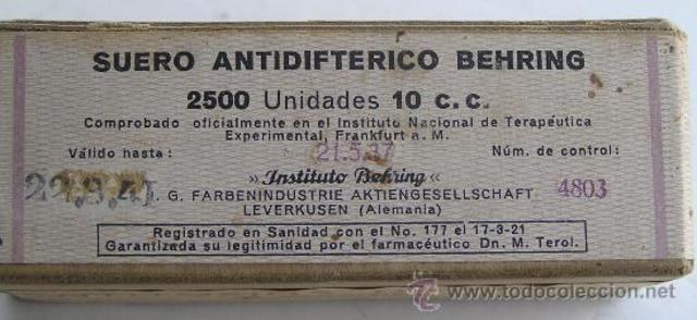 Behring: Antitoxinas