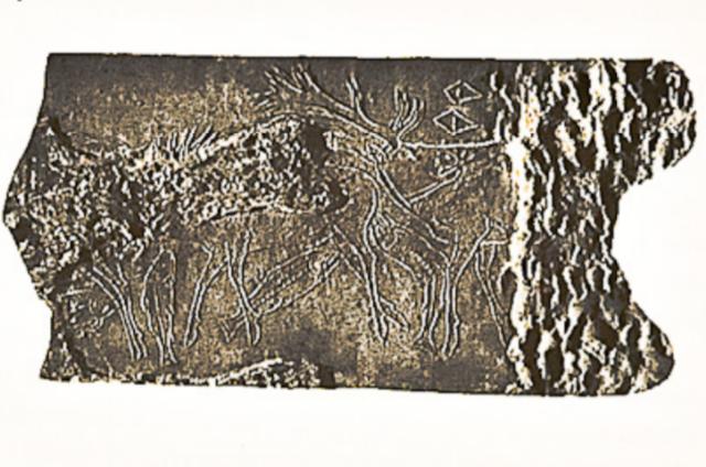 Grabado en cuerno 15000 A.C