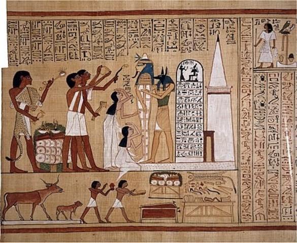 Detalles del papiro de Hunefer