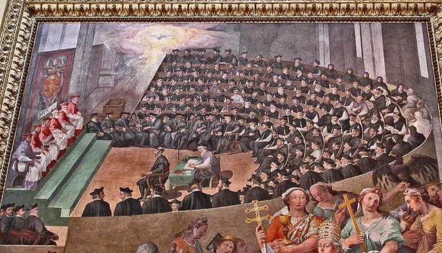 Followers of Paul III meet at the Council of Trent