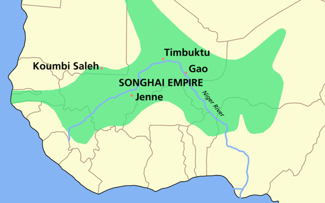 The Songhai Empire started in Africa