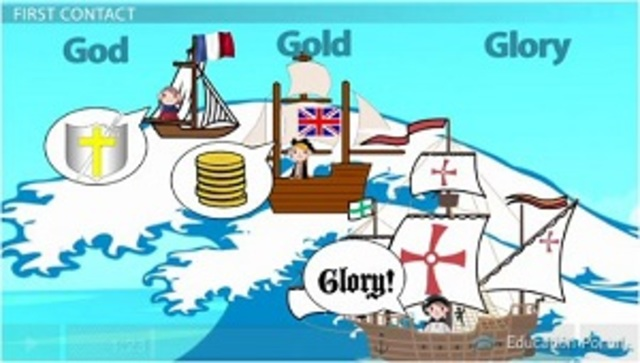 Gold, God, and Glory were the three main reasons for exploration.