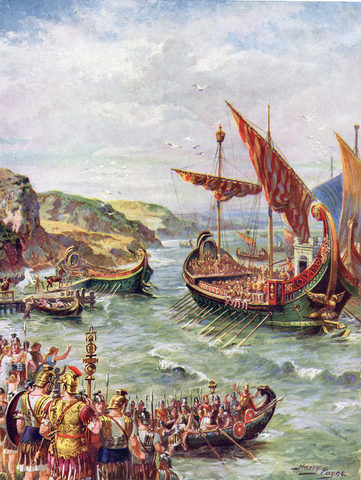 Emperor Claudius orders the invasion of Britain
